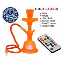 SHISHA GLASS LED NARANJA CONTROL REMOTO